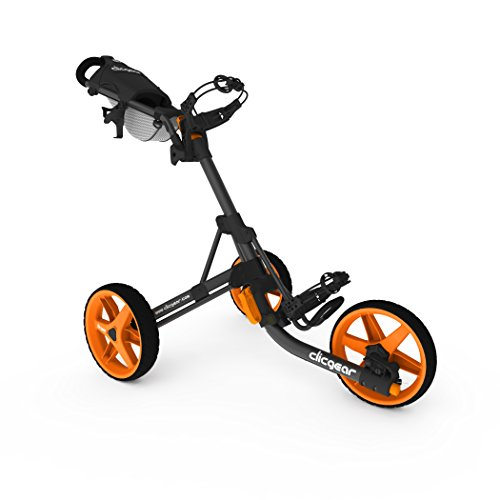 Clicgear Modell 3,5 + Golf Push Cart, Unisex, CGC352-CORG, Charcoal/Orange, Large - Von Cart Push Sun Mountain Golf
