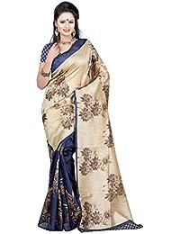 Indian Fashionista women's Bhagalpuri Cotton Saree with Blouse Piece (STMAW15BS-SR039_Multicolor)