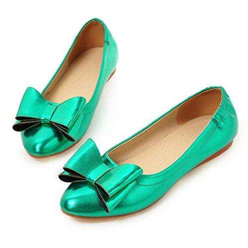 Femmes De Bowknot A Plat Chaussures Taoffen Confortable Vert Enfiler qxSRwx5nEA