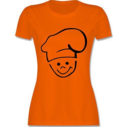 Küche - Küchenchef - tailliertes Premium T-Shirt mit Rundhalsausschnitt für Damen Orange