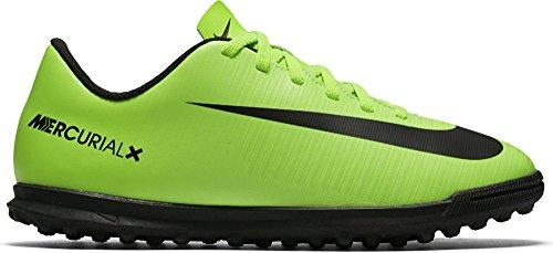 Nike Jr Mercurialx Vortex III TF, Botas de Fútbol Unisex Niños, Verde (Electric Green/Blk-Flsh LM-Wht), 38 EU