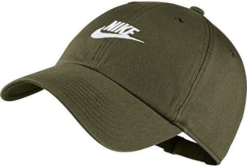 Canvas Washed Cap (Nike H86 Futura Washed Schirmmütze, Olive Canvas/(White), One Size (54-61 cm))