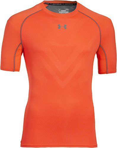Under Armour Herren Fitness T-Shirt und Tank Armourvent Comp Short Sleeve Bolt Orange