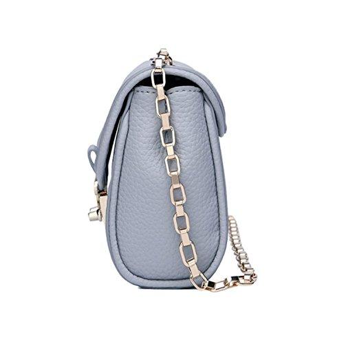 Chic Classic Kleine Cross-Body Schultertasche Bag Mini Pack Mit Kettenriemen,Black Black