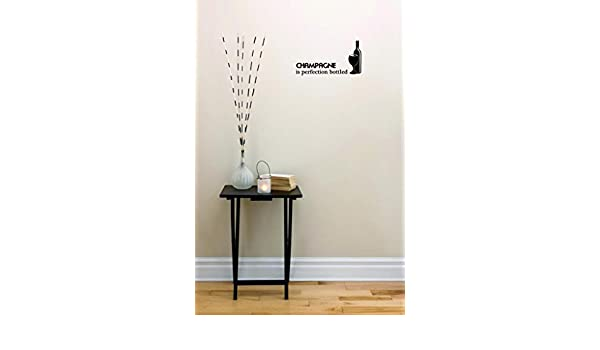 Black Size 12 Inches x 30 Inches Peel /& Stick Wall Sticker Champagne is Perfection Bottled Wine Bottle Color Design with Vinyl Moti 2627 2 Decal