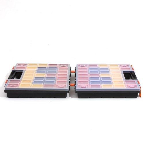 Prosperplast Sortimentskästen Kleinteilmagzine 42 Boxen herausnehmbar Turbo, 1 Stück (bestehend aus zwei Hälften), NOR DUO NORP16DUO