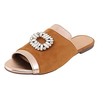 Catwalk Women's Tan Fashion Espadrille Flats-4 UK/India (36 EU) (3403T)