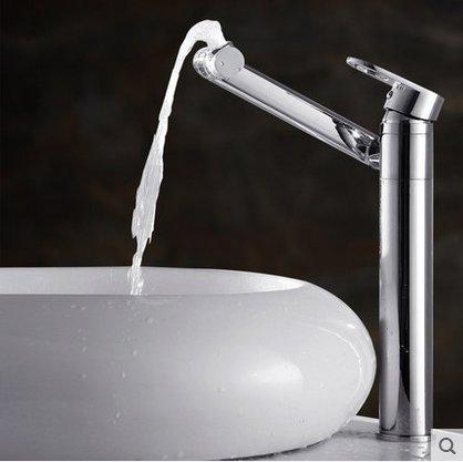 NewBorn Faucet Küche Oder Badezimmer Waschbecken Mischbatterie Wasserhahn Messing S Einzelne Bohrung heißen und Kalten Becken Tippen Sie auf Zum Drehen Cat Tap Nicht Zuführrohr -