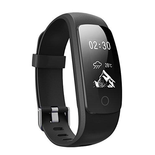 Pulsera Actividad Inteligente Pronóstico del Tiempo Pulsómetro Podómetro 14 Modos de Entrenamiento Monitor de Ritmo Cardíaco Pulsera de Fitness Inteligente Salud para Moviles Android y iPhone 7/6