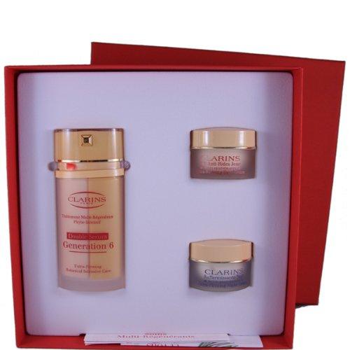 Clarins multi-regenerante gift set 30ml double serum generation 6 + 15ml extra-firming day lifting crema + 15ml extra-firming night rejuvenating crema