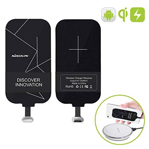 Nillkin Qi Empfänger USB C, Wireless Charger Receiver Induktions Ladegerät Empfänger Typ C Schnellladung Kompatibel mit Oneplus 7 Pro Huawei P10 Lite Sony XZ1 Samsung LG G5 HTC