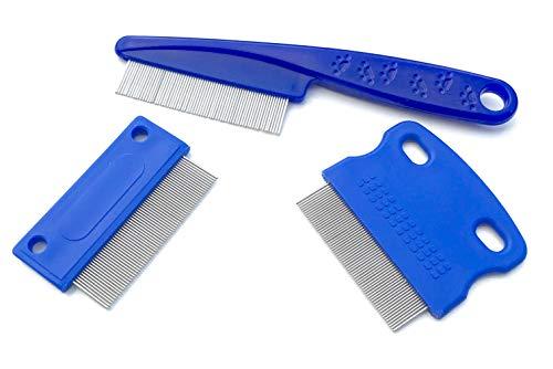 FYP Dog Tränen Fleck Remover Combs | Twin Pack | Kaufen Sie einmal ein Leben lang | Qualität perfekte Werkzeuge, um Kruste, Schleim und gunk sanft und effektiv von rund um Ihre Hundeaugen zu entfernen