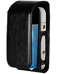 Yeleo Trosetry Zigarettenetui Schutzh/ülle//Halterung Aus Kunstleder mit Kartenhalter PU Leder Mehrfunktional Tasche f/ür iQOS Platz f/ür Geldbeutel schwarz