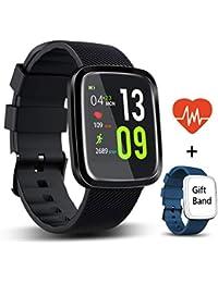 Reloj Inteligente Android,HUOU reloj de fitness con podómetro,impermeable a prueba de IP67