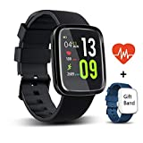 Reloj Inteligente Android,HUOU reloj de fitness con podómetro,impermeable a prueba de IP67, reloj de Fitness para Android y iOS rojo