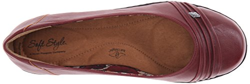 Soft Style by Hush Puppies Women's Jordyn Slip-On Loafer, Dark Red Leather, 11 M US Dark Red