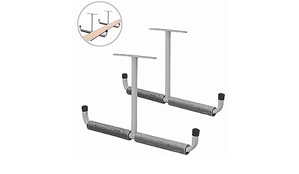 /échelle planche /à neige planche /à ski Support mural chaises pliantes v/élo et outils Crochets de rangement pour kayak de garage robuste planche de surf gris Pour cano/ë