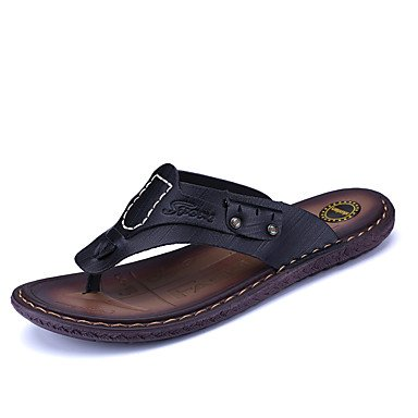 Slippers & amp da uomo;Primavera Estate Comfort microfibra esterna casuale Tallone piano Walking Sandal sandali US8 / EU40 / UK7 / CN41