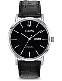 Bulova Mens Analogue Classic Quartz Watch with Leather Strap 96C131