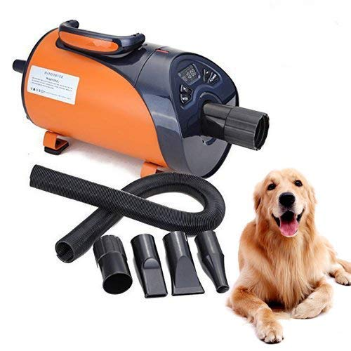 Ridgeyard soffiatore per cani Asciugacapelli cane Low Noise LED Display 8 livelli velocità 2800 W Animali Dryer Grooming