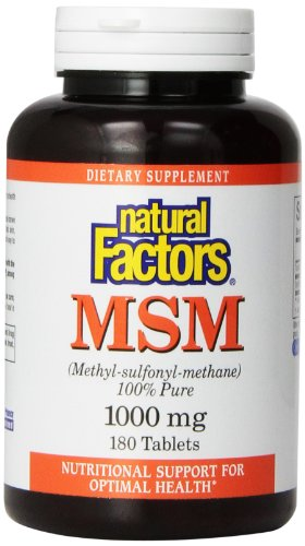 Natural Factors, MSM (Methyl-Sulfonyl-Methane), 1000 mg, 180 Tablets
