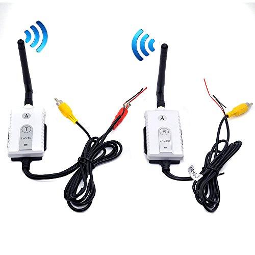 Auto Wayfeng WF 2.4G Wireless-AV-Kabel Sender und Empfänger für Bus-Auto-Video-Monitor Truck Rückfahrkamera Rückfahrkamera 200m Reichweite