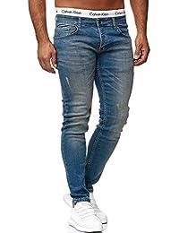 OneRedox Designer Herren Jeans Hose Regular Skinny Fit Jeanshose Basic  Stretch 093e95e908