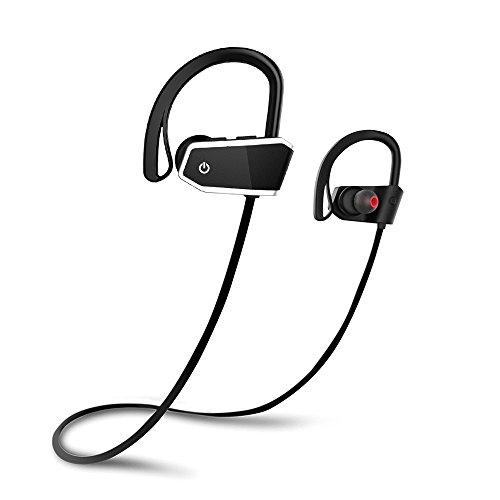Cuffie Bluetooth Sport, Voberry Cuffie Wireless IPX7 Impermeabile Auricolari Bluetooth, AptX CVC 6.0 Autonomia Batteria fino a 8 ore, Headset Sportive con Microfono per iPhone e Andoird