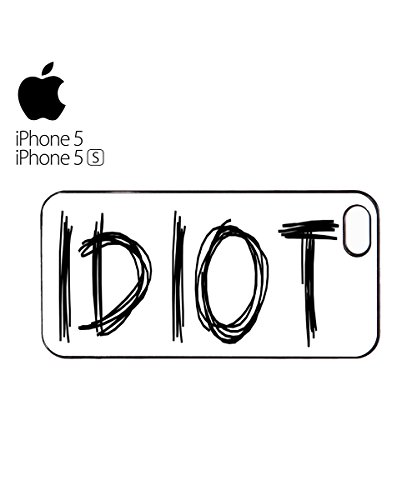 Idiot Mean Funny Mobile Cell Phone Case Cover iPhone 5c Black Blanc