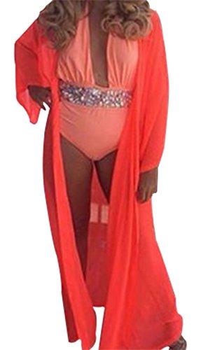Damen Sommer Strand Kleid Bikini vertuschen Bademode Sarong Orange