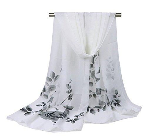 Aloiness sciarpe chiffon delle sciarpe sciarpa/stola/mantella sciarpa stole ideale per abiti da sera, matrimoni, feste, per damigella d'onore, sposa o vestiti da sposa o prom proms
