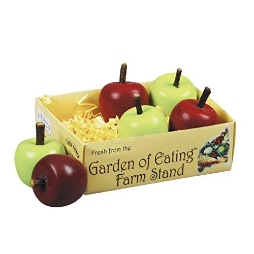 farm-fresh-18-inch-doll-sized-set-3-red-3-green-apples-packaged-in-a-paper-veggie-crate-food-kitchen