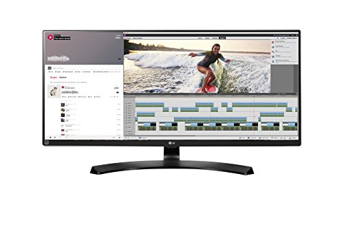 LG 34UM88-P 86,36 cm (34 Zoll) Monitor (HDMI, DisplayPort, Thunderbolt, USB 3.0, 5ms Reaktionszeit, QHD Display Ultra Wide) Schwarz
