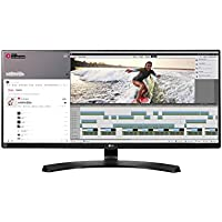 LG 34UM88-P 86,36 cm (34 Zoll) Monitor (HDMI, DisplayPort, Thunderbolt, USB 3.0, 5ms Reaktionszeit, QHD Display Ultra Wide) schwarz