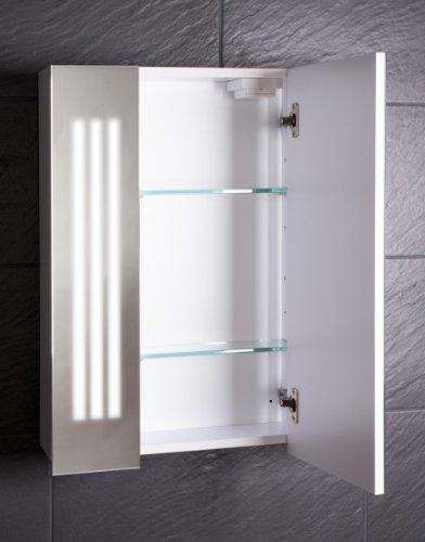 Holzspiegelschrank – Spiegelschrank von Galdem LOFT60 weiß - 2