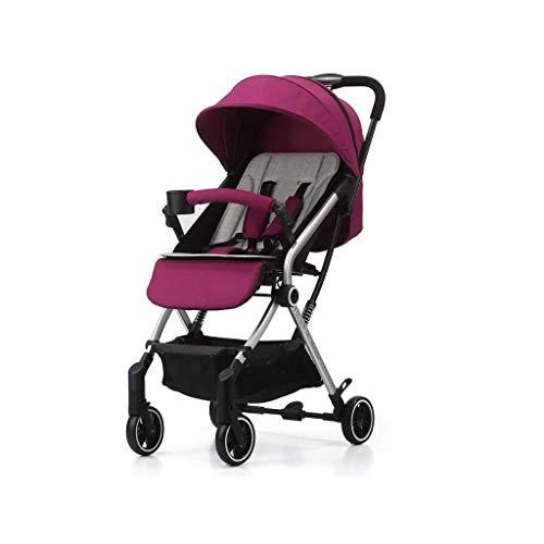 HZC Kinderwagen Lightweight Folding High Landscape Kinderwagen Infant Travel Buggy for Neugeborene und Kleinkinder (Farbe : Lila)
