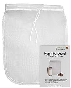 Nussmilchbeutel / Passiertuch zur Herstellung veganer Milchalternativen und vielen weiteren Anwendungsmöglichkeiten aus 100% Nylon