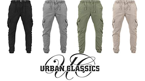 Urban Classics Neu Cargo Hose Jogging Pants Sweatpant TB1268 Übergröße S - 5XL, Color:Black, Groesse Herren:XS