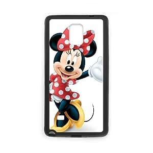 Disney Mickey Mouse Minnie Mouse Coque Samsung Galaxy Note 4 Coque cas de téléphone portable noir S7I8CU1E Unique claires Cas de téléphone
