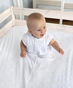 Sábana Fantasma cama 105-115cm x 200cm - la sábana de seguridad original (BLANCO)