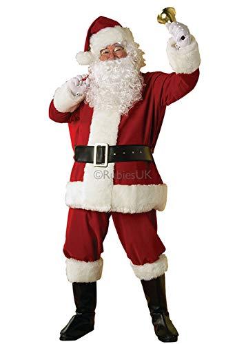 REGAL Erwachsene XL Größe Weihnachtsmann Plüsch Santa Anzug