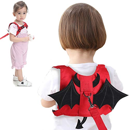 LY-LD Anti Lost Rucksack Baby Safety Walking Harness Leashes Für Kleinkinder Outdoor Safety Hook and Loop Belt 1-5 Years Kids,F