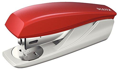 Leitz 55000025 Heftgerät, 25 Blatt, Ergonomisches Kunststoffgehäuse, rot