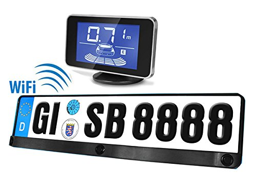 Kit 3 Sensori Di Parcheggio Wireless Senza Filo Portatarga Standard EU Display Led Cicalino…,