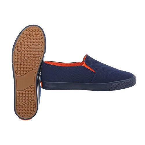 Ital-Design Sneakers Low Damenschuhe Sneakers Low Moderne Freizeitschuhe Dunkelblau R53-3
