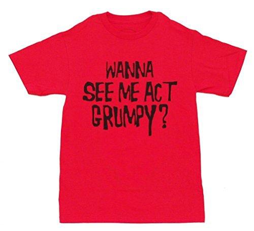 Act Grumpy Erwachsene Flip rot T-shirt (Large) (Disney Bekleidung Für Erwachsene)