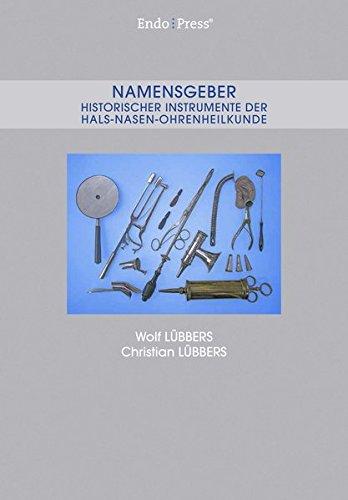 Namensgeber Historischer Instrumente der Hals-Nasen-Ohrenheilkunde (Ärzte-Anleitungen/Fachgebiet HNO)