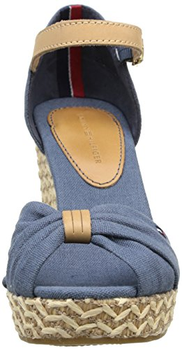 Tommy Hilfiger Emery 54E, Sandales compensées femme Bleu (Azul)
