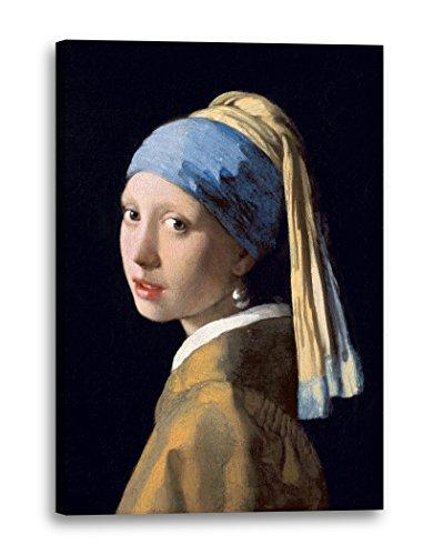 Jan Vermeer - Mädchen mit dem Perlenohrring (1665), 40 x 60 cm (weitere Größen verfügbar),...