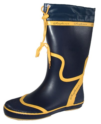 Seafarer Ladies Sailing Boat Deck Rubber Wellington Boots Wellies Sizes 4-8